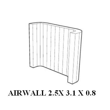 location de structure gonflable tente airwall sur. Black Bedroom Furniture Sets. Home Design Ideas