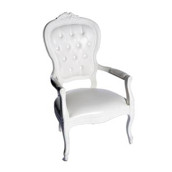 location de chaise voltaire armchair blanc sur ekipement. Black Bedroom Furniture Sets. Home Design Ideas