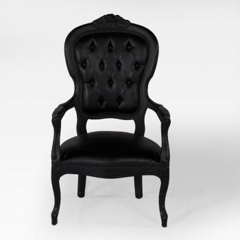 location de chaise voltaire armchair noire sur ekipement. Black Bedroom Furniture Sets. Home Design Ideas