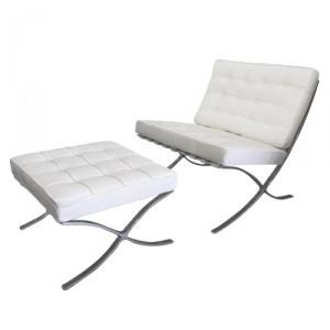 location de fauteuil barcelona cuir blanc sofa barcelona. Black Bedroom Furniture Sets. Home Design Ideas