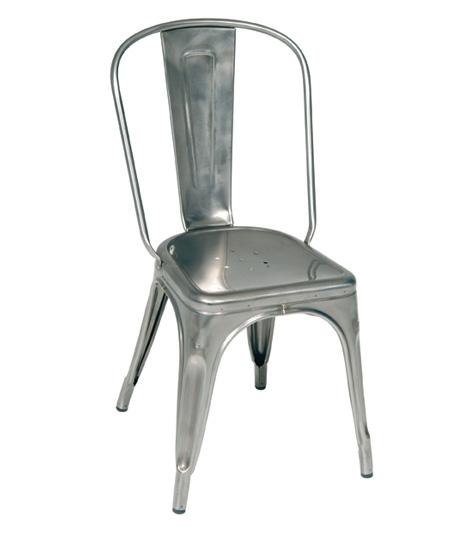 location chaise tolix a finition brut verni galvanis sur. Black Bedroom Furniture Sets. Home Design Ideas