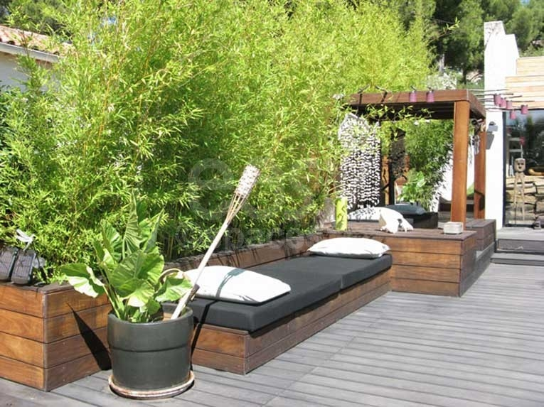 design bambou terrasse. Black Bedroom Furniture Sets. Home Design Ideas