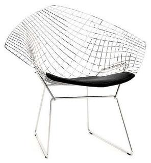 location de chaise bertoia lounge chair noir sur lille paris belgique location de mobilier. Black Bedroom Furniture Sets. Home Design Ideas