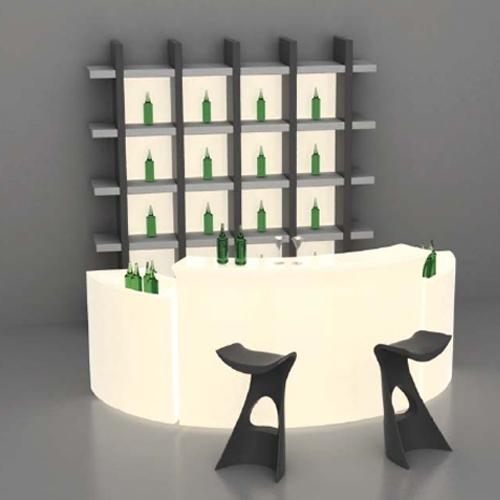 location de mobilier lumineux bar break bar slide sur location de mobilier et. Black Bedroom Furniture Sets. Home Design Ideas