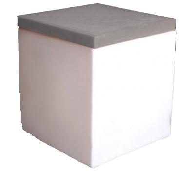 Location de mobilier soft cube blanc sur - Carre blanc lille ...