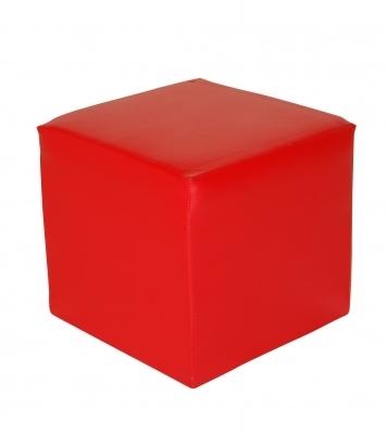 Location de mobilier pouf carre rouge sur for Pouf carre rouge