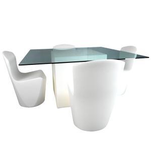 Location de mobilier lumineux table square slide sur - Carre blanc lille ...