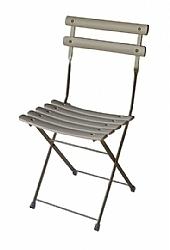 Location de chaise bistro blanc pliable sur location de mobi - Location chaise belgique ...