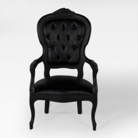 Location de chaise voltaire armchair noire sur location de m - Location chaise belgique ...