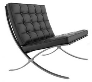 Location de fauteuil barcelona cuir noir sofa barcelona black sur ekipement - Fauteuil barcelona occasion ...